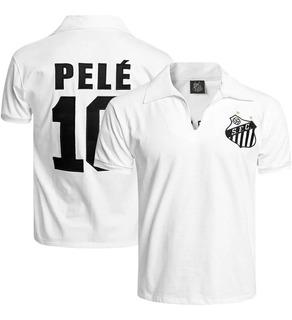 Camisa Do Santos Retrô Pelé Masculina Oficial Licenciada