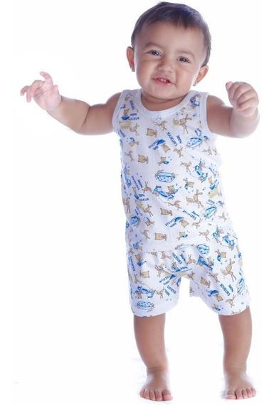 Shorts E Regatas Bebê Infantil Menino - Kit 10+10= 20 Peças