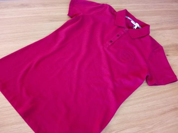 Bmw Polo Mujer Con Logo Bordado, Mangas Cortas, Color Rojo.