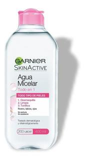 Agua Micelar Garnier Skin Active Desmaquilla Limpia Tonifica