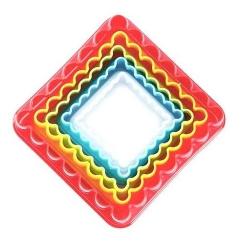 Cortantes Cuadrado Liso Y Rugoso Pack X 5 / Lauacu