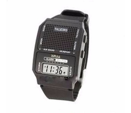Relógio Fala Hora Em Português Ideal P/ Idoso E Def Visual