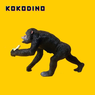 Mono Gorila Chimpancé Zoo Selva 19x12 Juguete Goma Kokodino