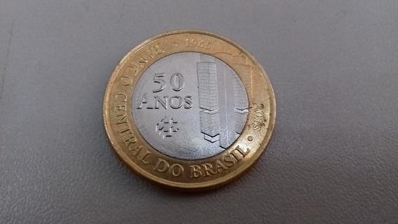 Moeda 1 Real Comemorativa 50 Anos Banco Central Do Brasil