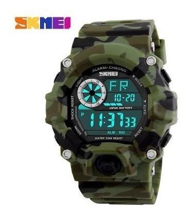 Relógio Camuflado Militar Skmei Digital Prova D´ Água