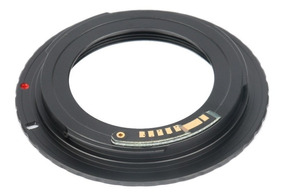 Adaptador Para Lente M42 Com Chip Câmeras Canon