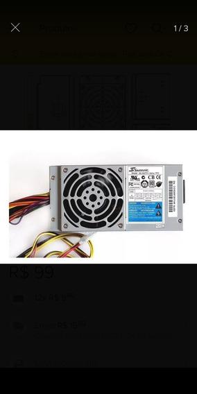 Fonte Atx 300w Real Seasonic Slim Ss-300tfx 24 Pinos