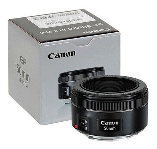 Lente Canon Ef 50mm F/1.8 Stm Luminoso Retratos Bokeh Tienda