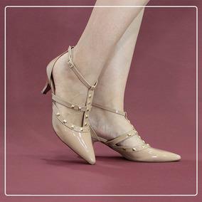 df93d0494f Scarpin Zatz Tiras E Tachas Scarpins - Sapatos no Mercado Livre Brasil
