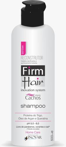 Shampoo Reconstrutor Firm Hair 500 Ml Linha Cachos
