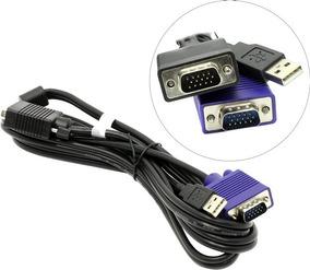 Cabo Kvm Tk-cu06 Trendnet 1.8mts Vga E Usb 2 Em 1 Switch Kvm