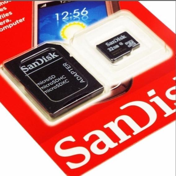Cartão De Memória Sandisk Sdsdqm-032g-b35a Com Adaptador Sd