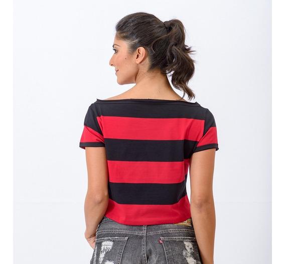 Blusa Feminina Flamengo Vibe Cropped