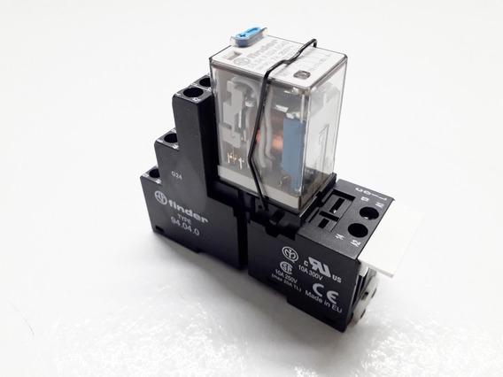 Suporte Rele Finder 10a 300v Com Rele 7a 250v Tipo 94.04.0