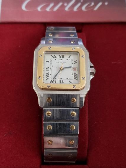 Relógio Cartier Santos Aço E Ouro Automático.