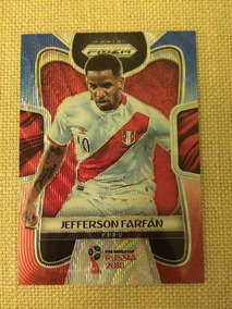 Card De Futebol Copa Do Mundo 2018 Prizm Red/ Blue ( Farfan)