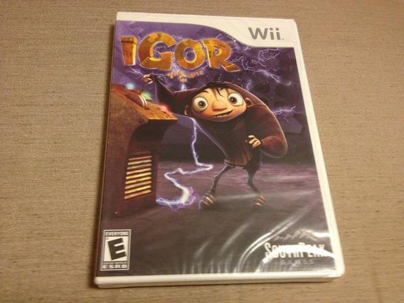 Igor The Game (nintendo Wii, 2008) Lacrado