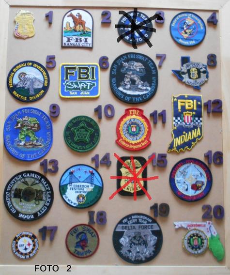Parches Policias Del Mundo - F B I Y A T F