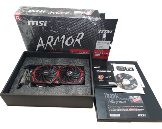 Placa De Vídeo Msi Amd Radeon Rx 570 8gb Armor Mk2 Oc