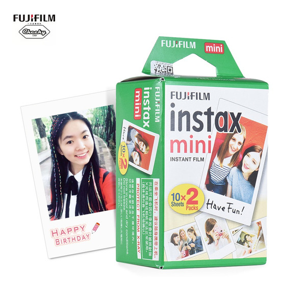 Fujifilm Instax Mini 20 Sheets Filme Papel Foto Branco