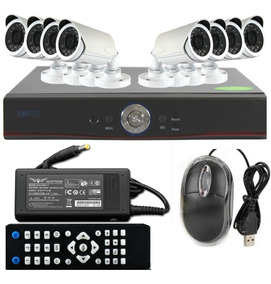 Kit Dvr 8 Câmeras Wi-fi H-264 Infravermelho Hd 720p