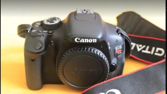 Canon T3i Corpo + Carregador + Bateria + Alça