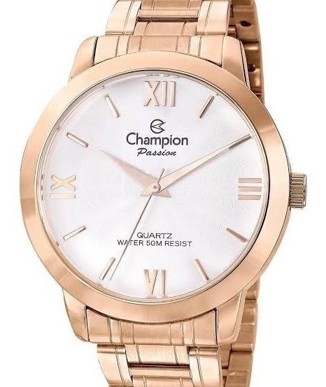 Relógio Champion Original Dourado Rose Cn25725x N.f.