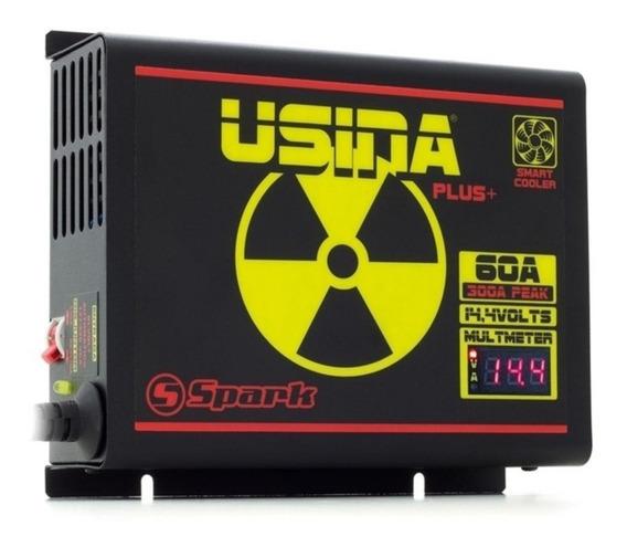 Fonte Carregador Bateria Usina 60a 14,4v Fonte C Voltimetro