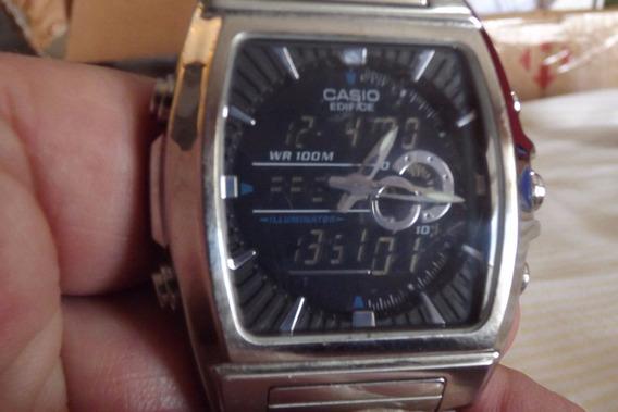 Relógio - Casio Edifice - Multifunções - Usado - R$ 450,00