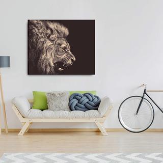 Cuadro Canvas León Para Sala Impresión Hd Con Bastidor 65x80
