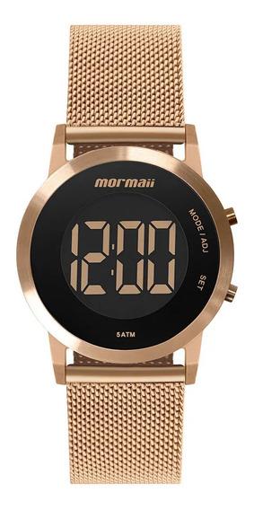 Relógio Feminino Rose Digital Mormaii Todo Em Aço Original