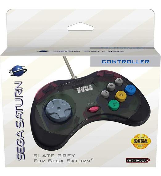 Controle Para Sega Saturn Saturno Transp. - Retro-bit - Novo