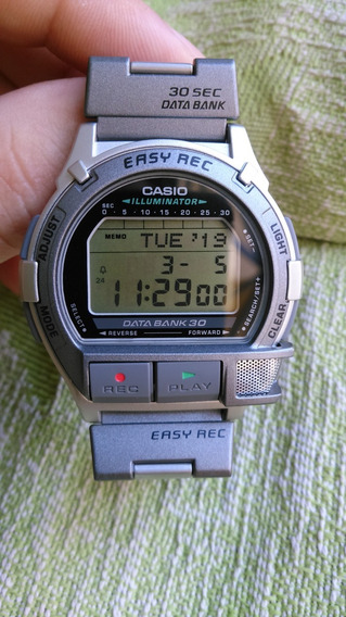 Relógio Casio Vintage Db-v300 Raro Gravador De Voz