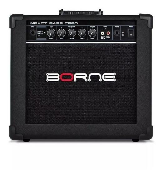Amplificador Borne Impact Bass Cb60 20w Preto 220v/110v (biv