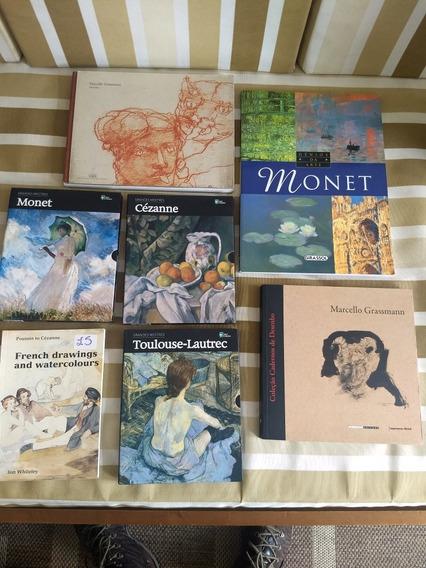 Livros De Arte (monet, Cézanne, Aquarelas, Frete Grátis)