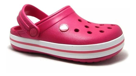 Crocs Crocband Fucsia - Niñas