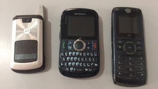 Celular Motorola Para Retirada Peças Lote 3 Unidades