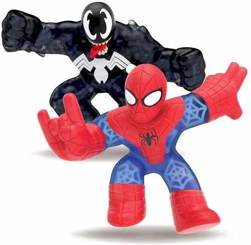 Imagen 1 de 6 de Spider-man Vs Venom Heroes De Goo Jit Zu Heroes Marvel 41146