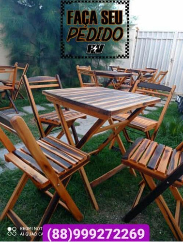 Imagem 1 de 5 de Mesas E Cadeiras Dobrável