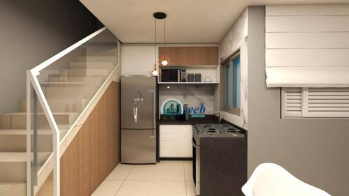 Cobertura Duplex Com 2 Dormitórios À Venda, 90 M² Por R$ 310.000 - Vila Príncipe De Gales - Santo André/sp - Co0956