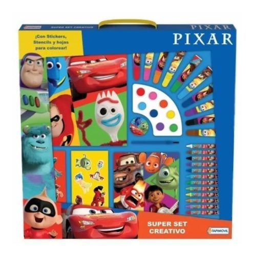 Super Set Creativo Colorear Disney Pixar Envio Gratis