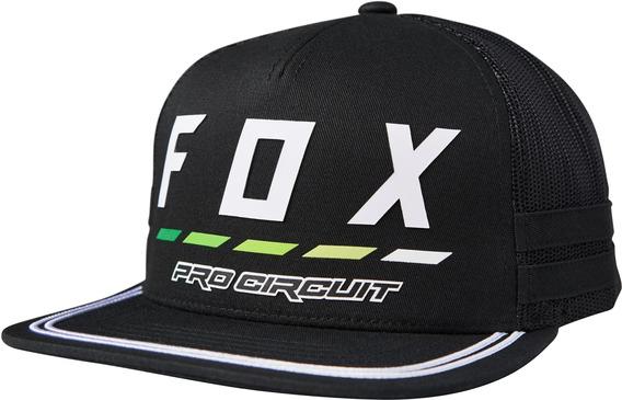 Boné Fox Draftr Pro Cricuit Preto Snapback Aba Reta Regulage