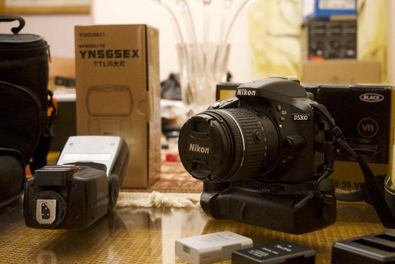 Nikon D5300 Com Flash Externo + Acessórios