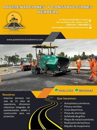Asfaltado De Pistas, Servicio De Asfaltado Carreteras Calles