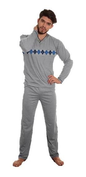 Pijama Invierno Paytity Interlock Hombre Escote V