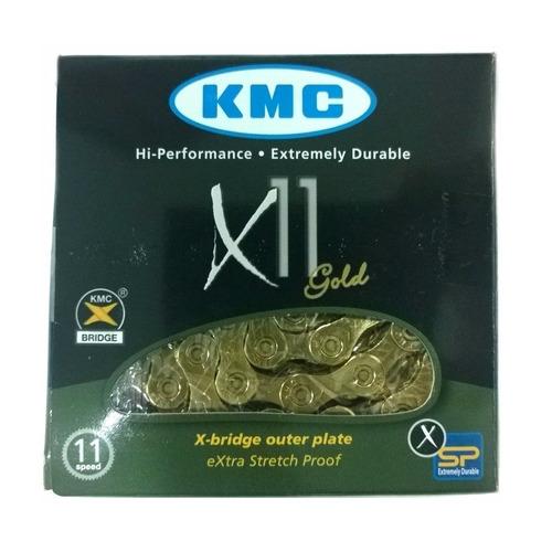 Corrente Kmc X11 Gold / Dourada 116 Elos - 11v
