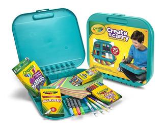Kit Divertido Crayola Create & Carry X75 Piezas Ideal Viajes