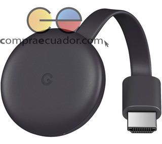 Chromecast 3 Google Conviertidor Tv En Smart Tv Oferta