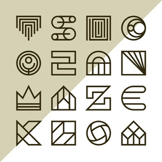 16 Diseños De Logos Minimalistas Plantillas En Vectores 03