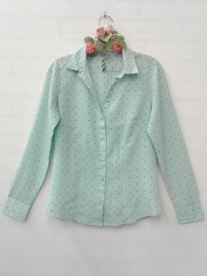 Camisa Blusa Feminina Estampada Manga Longa